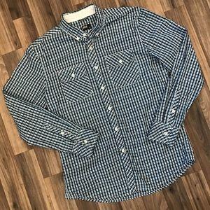 BKE Buckle Standard Fit Plaid Button Shirt Men's M